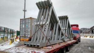 Перевозка металлоконструкций автотранспортом на трале